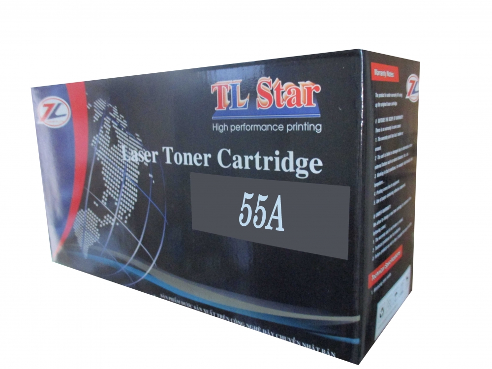 Mực In TLSTAR 55A- Black LaserJet Toner Cartridge